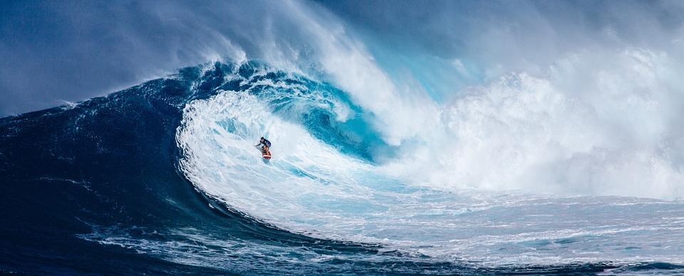 ハワイの波